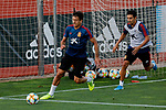 Oyarzabal and Jesus Navas during the Trainee Session at Ciudad del Futbol in Las Rozas, Spain. September 02, 2019. (ALTERPHOTOS/A. Perez Meca)