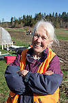 Ellen O'Shea,, Volunteers planting trees, Eaglemount Farms, Chimacum Creek, North Olympic Salmon Coalition, Jefferson County, Washington State, Pacific Northwest, United States, habitat restoration,