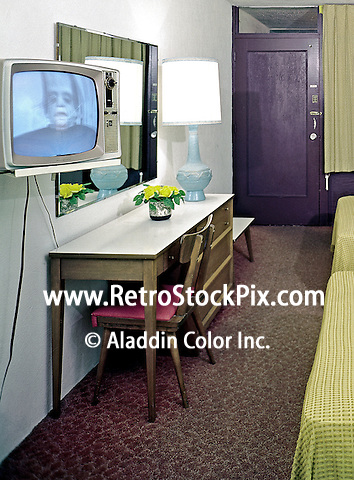 24th Street Motel, North Wildwood, New Jersey,  1960's motel room
