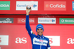 Enric Mas (ESP) Quick-Step Floors finishes in 6th place and leads the young riders competition at the end of Stage 17 of the La Vuelta 2018, running 157km from Getxo to Balcón de Bizkaia, Spain. 12th September 2018.                   <br /> Picture: Unipublic/Photogomezsport | Cyclefile<br /> <br /> <br /> All photos usage must carry mandatory copyright credit (© Cyclefile | Unipublic/Photogomezsport)