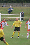 Spartans 2, Edinburgh City 0, 19/08/2006. City Park, East of Scotland League Cup. Spartans (white) take on Edinburgh City in an East of Scotland League Cup tie at City Park, Edinburgh. Spartans, perennial Scottish Cup giant killers, are due to relocate to a new purpose-built stadium in 2007 bringing to an end football at the north Edinburgh ground which was built, ironically, by Edinburgh City, who now play at the Commonwealth Stadium, the former home of Meadowbank Thistle. City were members of the Scottish League in the 1930s. Spartans won this group match 2-0. Photo by Colin McPherson.
