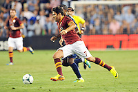 Sporting Park, Kansas City, Kansas, July 31 2013:<br /> Marquinho (7) AS Roma in action.<br /> MLS All-Stars were defeated 3-1 by AS Roma at Sporting Park, Kansas City, KS in the 2013 AT & T All-Star game.