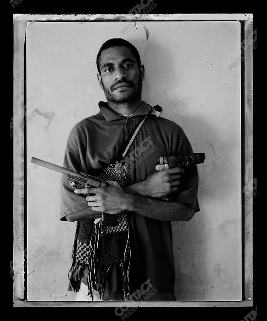 """Dixon,"" Raskols, gangs of Port Moresby, Papua New Guinea, January 2004"