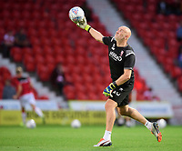 Lincoln City's first team goalkeeping coach Andy Warrington during the pre-match warm-up<br /> <br /> Photographer Chris Vaughan/CameraSport<br /> <br /> EFL Leasing.com Trophy - Northern Section - Group H - Doncaster Rovers v Lincoln City - Tuesday 3rd September 2019 - Keepmoat Stadium - Doncaster<br />  <br /> World Copyright © 2018 CameraSport. All rights reserved. 43 Linden Ave. Countesthorpe. Leicester. England. LE8 5PG - Tel: +44 (0) 116 277 4147 - admin@camerasport.com - www.camerasport.com