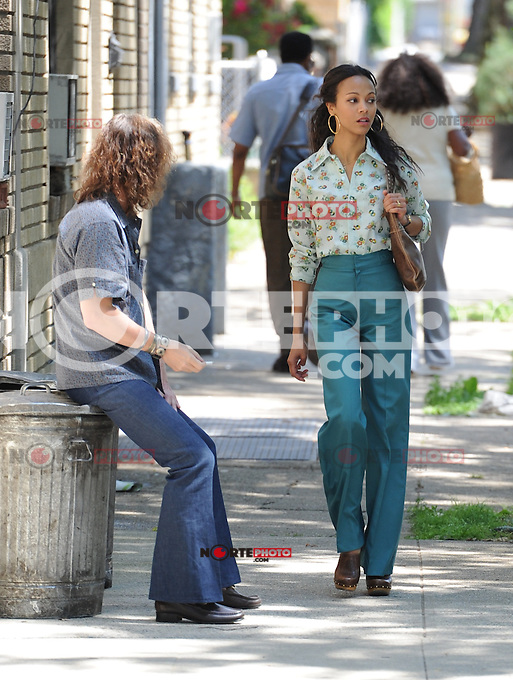 May 31 , 2012: Zoe Saldana on the set of Blood Ties in New York City. ©mpi15/MediaPunch Inc.
