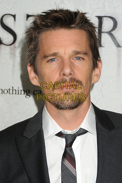 """Ethan Hawke.""""Sinister"""" Los Angeles Special Screening held at the Landmark Regent Theatre, Westwood, California, USA..October 1st, 2012.headshot portrait black  grey gray white shirt tie suit goatee facial hair.CAP/ADM/BP.©Byron Purvis/AdMedia/Capital Pictures."""