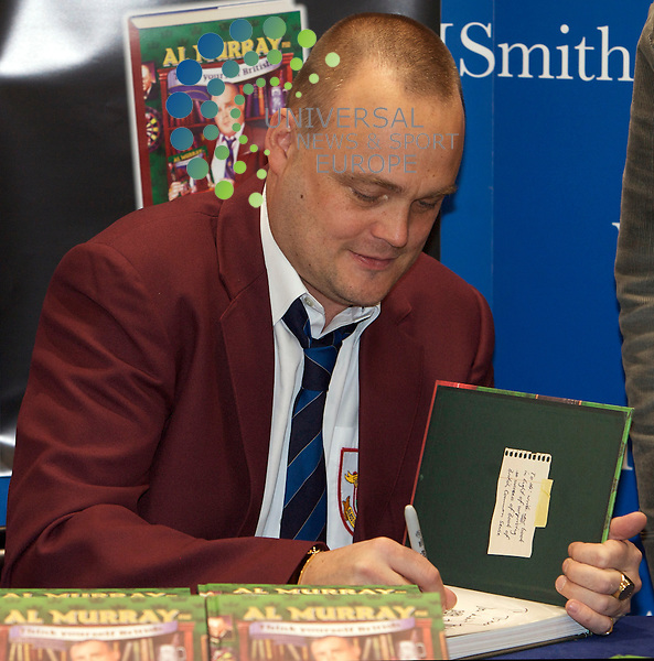 Britains Favourite Pub Landlord Al Murray Book Signing in Edinburgh...Al Murray Pub Landlord, signs coppies of His new book Think Yourself British. The book is a no nonsence, extremely funny, self help, common sense approach to being British as only Al Murray can deliver..At The Gyle Shopping Centre, Edinburgh today..Picture: Mark Davison/Universal News and Sport (Scotland) 16 October 2009.