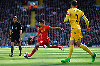 Liverpool's Philippe Coutinho shoots at goal<br /> <br /> Photographer Terry Donnelly/CameraSport<br /> <br /> The Premier League - Liverpool v Crystal Palace - Sunday 23rd April 2017 - Anfield - Liverpool<br /> <br /> World Copyright &copy; 2017 CameraSport. All rights reserved. 43 Linden Ave. Countesthorpe. Leicester. England. LE8 5PG - Tel: +44 (0) 116 277 4147 - admin@camerasport.com - www.camerasport.com