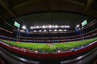 A general view of The Principality Stadium, Cardiff<br /> <br /> Photographer Ian Cook/CameraSport<br /> <br /> Under Armour Series Autumn Internationals - Wales v Scotland - Saturday 3rd November 2018 - Principality Stadium - Cardiff<br /> <br /> World Copyright &copy; 2018 CameraSport. All rights reserved. 43 Linden Ave. Countesthorpe. Leicester. England. LE8 5PG - Tel: +44 (0) 116 277 4147 - admin@camerasport.com - www.camerasport.com