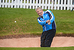 Colin Montgomerie hits a shot out of the bunker during a Master class ..Celebrity Cup at Golf Live  - Celtic Manor Resort - Friday 10th  May  2013 - Newport ..© www.sportingwales.com- PLEASE CREDIT IAN COOK