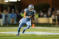CHAPEL HILL, NC - NOVEMBER 02: Sam Howell #7 of the University of North Carolina runs the ball during a game between University of Virginia and University of North Carolina at Kenan Memorial Stadium on November 02, 2019 in Chapel Hill, North Carolina.