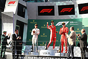 25th March 2018, Melbourne Grand Prix Circuit, Melbourne, Australia; Melbourne Formula One Grand Prix, race day; Scuderia Ferrari; Sebastian Vettel wins race followed by Mercedes AMG Petronas Motorsport AMG F1 Team; Lewis Hamilton and Kimi Raikkonen