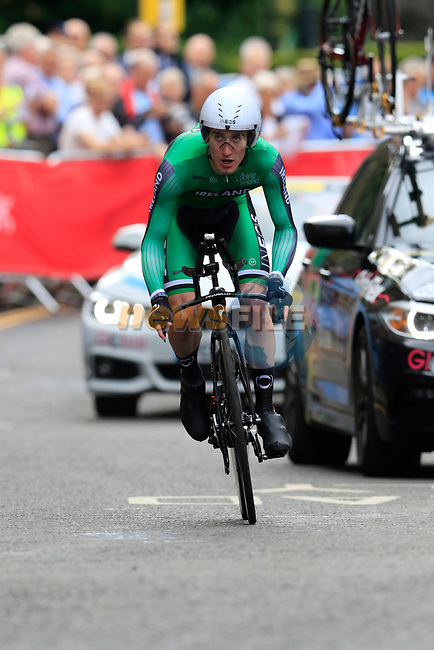 Eddie Dunbar (IRL) in action during the Men Elite Individual Time Trial of the UCI World Championships 2019 running 54km from Northallerton to Harrogate, England. 25th September 2019.<br /> Picture: Eoin Clarke | Cyclefile<br /> <br /> All photos usage must carry mandatory copyright credit (© Cyclefile | Eoin Clarke)