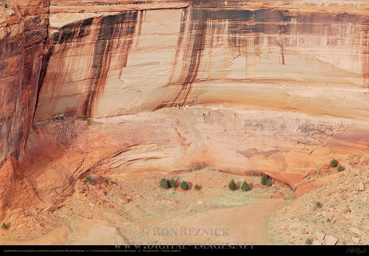 Sliding House Ruin, Canyon de Chelly from Sliding House Overlook, Anasazi Hisatsinom Cliff Dwellings, Canyon de Chelly National Monument, Navajo Nation, Chinle, Arizona