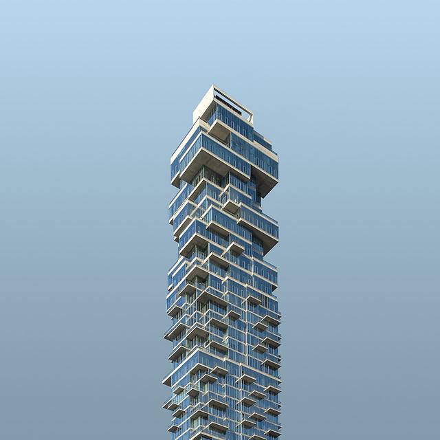 Jenga Tower<br /> 56 Leonard Street<br /> New York City
