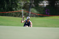 PATTAYA, THAILAND - FEBRUARY 22: Jennifer Song of USA 2nd shot on the 17th green during the second round of the Honda LPGA Thailand 2019 at Siam Country Club Pattaya (Old Course), Pattaya, Thailand on February 22, 2019.<br /> .<br /> .<br /> .<br /> (Photo by: Naratip Golf Srisupab/SEALs Sports Images)<br /> .<br /> Any image use must include a mandatory credit line adjacent to the content which should read: Naratip Golf Srisupab/SEALs Sports Images