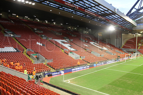02.03.2016. Anfield Stadium, Liverpool, England. Barclays Premier League. Liverpool versus Manchester City<br /> A view of the Kop from the Centenary Stand