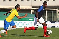 Ulrick Brad Eneme Ella of France races upfield during France Under-18 vs Brazil Under-20, Tournoi Maurice Revello Football at Stade d'Honneur Marcel Roustan on 5th June 2019