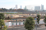 A view of the site for the new National Stadium for the Tokyo 2020 Olympic Games on November 20, 2016, Tokyo, Japan. (Photo by Hiroyuki Ozawa/AFLO)