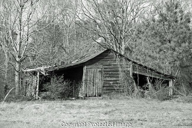 Old barns on the backroads of Northwest Georgia