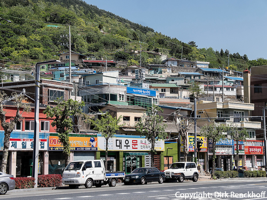 Stra&szlig;e In Yeosu, Provinz Jeollanam-do, S&uuml;dkorea, Asien<br /> street  in Yeosu, province Jeollanam-do, South Korea, Asia