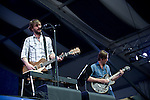 Ben Bridwell of Band of Horses performs during the New Orleans Jazz & Heritage Festival in New Orleans, LA.