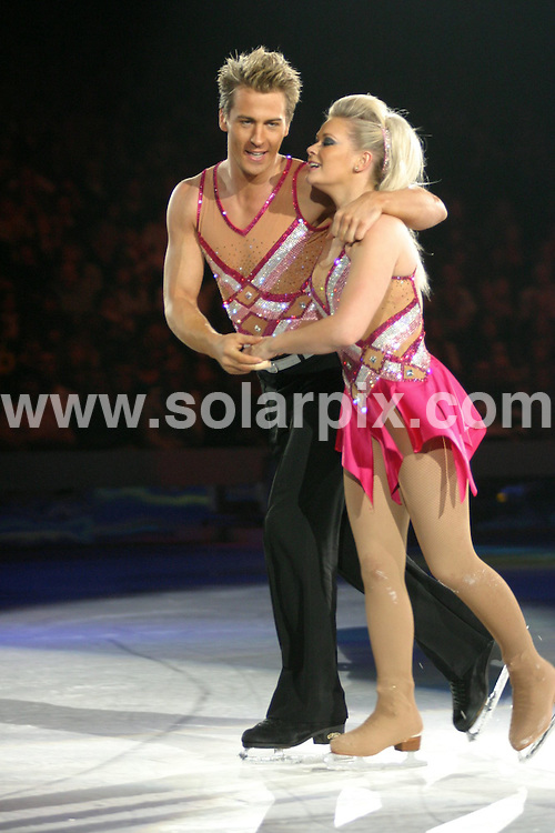 **ALL ROUND PICTURES FROM SOLARPIX.COM**.**WORLDWIDE SYNDICATION RIGHTS**.Dancing On Ice at Birmingham National Indoor Arena. 15th April 2008..This pic: Suzanne Shaw (This year's winner) and Matt..JOB REF: 6148 NYA       DATE: 15_04_2008.**MUST CREDIT SOLARPIX.COM OR DOUBLE FEE WILL BE CHARGED* *UNDER NO CIRCUMSTANCES IS THIS IMAGE TO BE REPRODUCED FOR ANY ONLINE EDITION WITHOUT PRIOR PERMISSION*