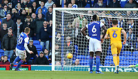 Ipswich Town's Freddie Sears scores his side's first goal  <br /> <br /> Photographer David Shipman/CameraSport<br /> <br /> The EFL Sky Bet Championship - Ipswich Town v Preston North End - Saturday 3rd November 2018 - Portman Road - Ipswich<br /> <br /> World Copyright &copy; 2018 CameraSport. All rights reserved. 43 Linden Ave. Countesthorpe. Leicester. England. LE8 5PG - Tel: +44 (0) 116 277 4147 - admin@camerasport.com - www.camerasport.com