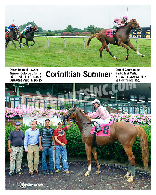 Corinthian Summer winning at Delaware Park on 8/10/15