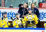 Huddinge 2015-09-20 Ishockey Division 1 Huddinge Hockey - S&ouml;dert&auml;lje SK :  <br /> S&ouml;dert&auml;ljes tr&auml;nare coach Mats Waltin i aktion i b&aring;set under matchen mellan Huddinge Hockey och S&ouml;dert&auml;lje SK <br /> (Foto: Kenta J&ouml;nsson) Nyckelord:  Ishockey Hockey Division 1 Hockeyettan Bj&ouml;rk&auml;ngshallen Huddinge S&ouml;dert&auml;lje SK SSK tr&auml;nare manager coach portr&auml;tt portrait