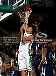 North Texas Mean Green forward Tony Mitchell (13) in action during the game between the Jackson State Tigers and the University of North Texas Mean Green at the North Texas Coliseum,the Super Pit, in Denton, Texas. UNT defeated Jackson State 69 to 55.