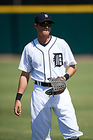 Detroit Tigers Danny Woodrow (22) during warmups before an Instructional League game against the Toronto Blue Jays on October 12, 2017 at Joker Marchant Stadium in Lakeland, Florida.  (Mike Janes/Four Seam Images)