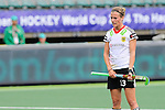 The Hague, Netherlands, June 10: Katharina Otte #13 of Germany prepares for a penalty corner during the field hockey group match (Women - Group B) between Germany and England on June 10, 2014 during the World Cup 2014 at Kyocera Stadium in The Hague, Netherlands. Final score 1-3 (0-0) (Photo by Dirk Markgraf / www.265-images.com) *** Local caption ***