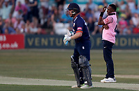 Dwayne Bravo of Middlesex looks on as the ball is dropped by a fielder during Essex Eagles vs Middlesex, Vitality Blast T20 Cricket at The Cloudfm County Ground on 6th July 2018