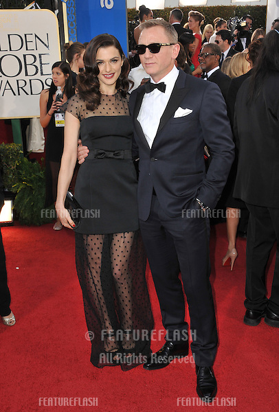 Rachel Weisz & Dan Craig at the 70th Golden Globe Awards at the Beverly Hilton Hotel..January 13, 2013  Beverly Hills, CA.Picture: Paul Smith / Featureflash