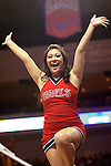LAS VEGAS, NV - MARCH 8:  Cheerleaders during Saint Mary's 81-62 win over the Gonzaga Bulldogs in the championship game of the 2010 Zappos West Coast Conference Basketball Championships on March 8, 2010 at Orleans Arena in Las Vegas Nevada.