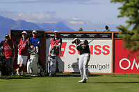 Siddikur Rahman (BAN) tees off the 2nd tee during Thursday's Round 1 of the 2017 Omega European Masters held at Golf Club Crans-Sur-Sierre, Crans Montana, Switzerland. 7th September 2017.<br /> Picture: Eoin Clarke | Golffile<br /> <br /> <br /> All photos usage must carry mandatory copyright credit (&copy; Golffile | Eoin Clarke)