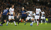 Tottenham Hotspur's Erik Lamela and Internazionale's Marcelo Brozovic<br /> <br /> Photographer Rob Newell/CameraSport<br /> <br /> UEFA Champions League Group B - Tottenham Hotspur v Internazionale - Wednesday 28th November 2018 - Wembley Stadium - London<br />  <br /> World Copyright &copy; 2018 CameraSport. All rights reserved. 43 Linden Ave. Countesthorpe. Leicester. England. LE8 5PG - Tel: +44 (0) 116 277 4147 - admin@camerasport.com - www.camerasport.com