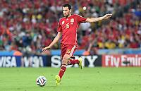 FUSSBALL WM 2014  VORRUNDE    Gruppe B     Spanien - Chile                           18.06.2014 Sergio Busquets (Spanien) am Ball