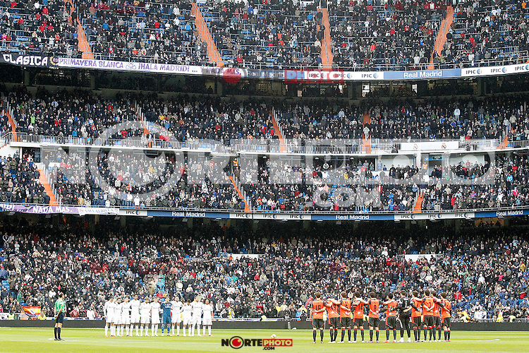 Tribute to Real Sociedad's supporter died in traffic accident traveling to the match.January 31,2015. (ALTERPHOTOS/Acero) /NortePhoto<br />