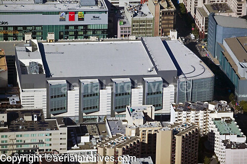 aerial photograph Moscone West Convention Center San Francisco California