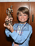 Ardee Celtic Under 10B player of the year Daniel Coyle at the Ardee Celtic annual awards night in Ardee parish centre. Photo:Colin Bell/pressphotos.ie