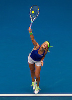 VICTORIA AZARENKA (BLR) against MONA BARTHEL (GER) in the third round of the Women's Singles. Victoria Azarenka beat Mona Barthel 6-2 6-4..20/01/2012, 20th January 2012, 20.01.2012..The Australian Open, Melbourne Park, Melbourne,Victoria, Australia.@AMN IMAGES, Frey, Advantage Media Network, 30, Cleveland Street, London, W1T 4JD .Tel - +44 208 947 0100..email - mfrey@advantagemedianet.com..www.amnimages.photoshelter.com.
