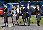 """PRINCE WILLIAM.attends the funeral of his nanny Olga Powell, who died recently at the age of 82-years old. The service was held at Harlow Cremotorium, Harlow, Essex.Princess Diana's sisters Lady Jane Fellowes and Lady sarah McCorquadale were also present. 10/10/2012.Mandatory credit photo: ©Dias/NEWSPIX INTERNATIONAL..(Failure to credit will incur a surcharge of 100% of reproduction fees)..                **ALL FEES PAYABLE TO: """"NEWSPIX INTERNATIONAL""""**..IMMEDIATE CONFIRMATION OF USAGE REQUIRED:.DiasImages, 31a Chinnery Hill, Bishop's Stortford, ENGLAND CM23 3PS.Tel:+441279 324672  ; Fax: +441279656877.Mobile:  07775681153.e-mail: info@newspixinternational.co.uk"""