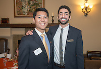 Graduating students attend the Senior Leaders Reception with President Jonathan Veitch on Wednesday, May 14, 2015 at the Samuelson Alumni Center. (Photo by Marc Campos, Occidental College Photographer)