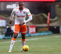 Blackpool's Donervon Daniels in action <br /> <br /> Photographer David Shipman/CameraSport<br /> <br /> The EFL Sky Bet League One - Charlton Athletic v Blackpool - Saturday 16th February 2019 - The Valley - London<br /> <br /> World Copyright © 2019 CameraSport. All rights reserved. 43 Linden Ave. Countesthorpe. Leicester. England. LE8 5PG - Tel: +44 (0) 116 277 4147 - admin@camerasport.com - www.camerasport.com