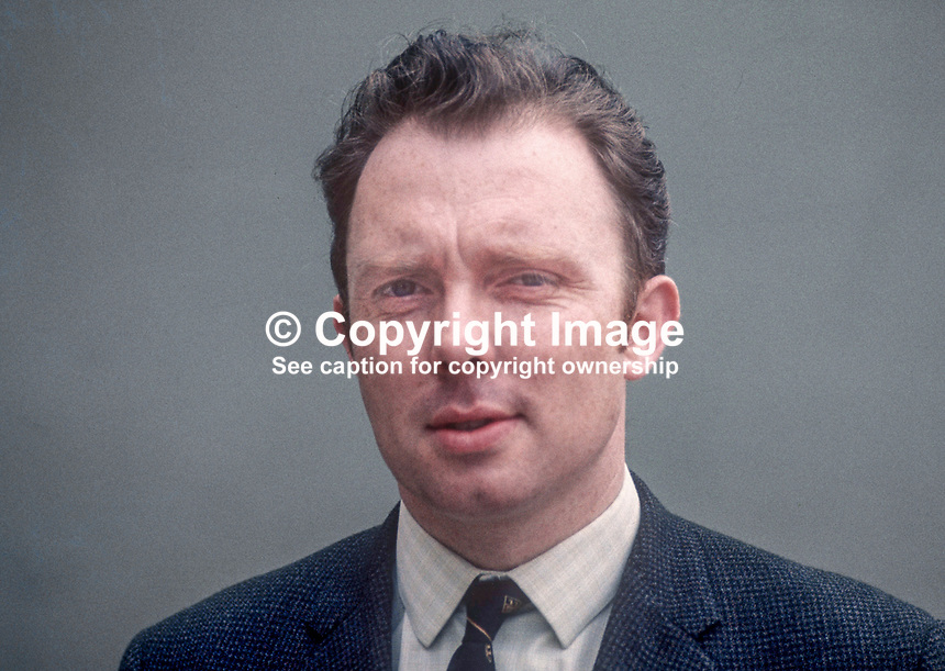 Neville Thornton, candidate, Ulster Unionist, Mid-Ulster, UK General Election, June, 1970, 197006000216<br /> <br /> Copyright Image from Victor Patterson, 54 Dorchester Park, Belfast, UK, BT9 6RJ<br /> <br /> t: +44 28 9066 1296<br /> m: +44 7802 353836<br /> vm +44 20 8816 7153<br /> <br /> e1: victorpatterson@me.com<br /> e2: victorpatterson@gmail.com<br /> <br /> www.victorpatterson.com<br /> <br /> IMPORTANT: Please see my Terms and Conditions of Use at www.victorpatterson.com