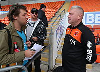 Blackpool manager Terry McPhillips interacts with fans<br /> <br /> Photographer Stephen White/CameraSport<br /> <br /> The EFL Sky Bet League One - Blackpool v Rochdale - Saturday 6th October 2018 - Bloomfield Road - Blackpool<br /> <br /> World Copyright © 2018 CameraSport. All rights reserved. 43 Linden Ave. Countesthorpe. Leicester. England. LE8 5PG - Tel: +44 (0) 116 277 4147 - admin@camerasport.com - www.camerasport.com