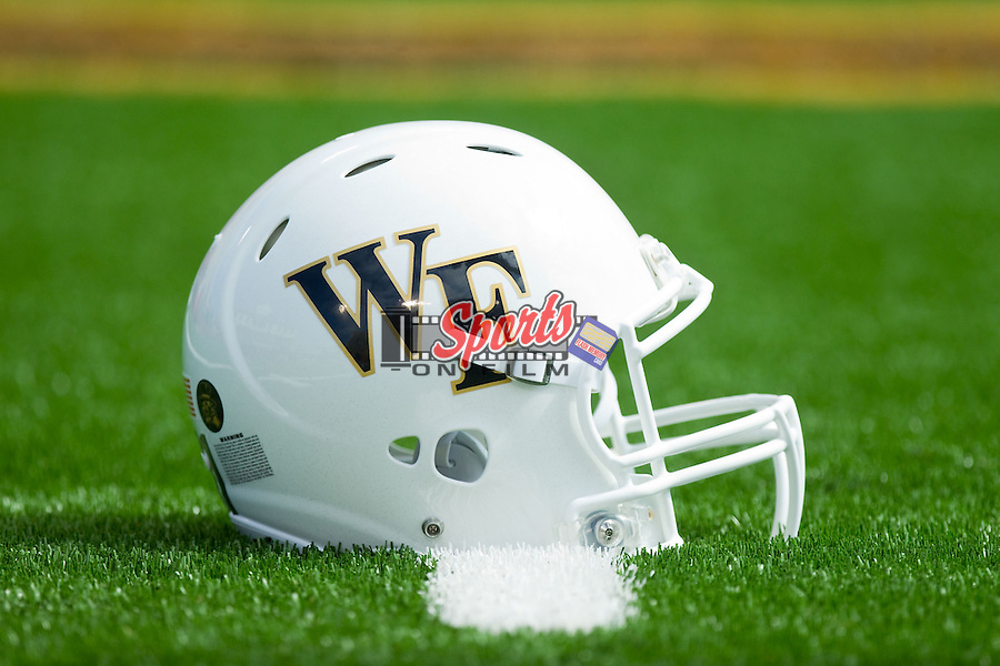 The Wake Forest Demon Deacons wore white helmets for the first time at home during the 2013 season as they played host to the Louisiana-Monroe Warhawks at BB&T Field on September 14, 2012 in Winston-Salem, North Carolina.  The Warhawks defeated the Demon Deacons 21-19.    (Brian Westerholt/Sports On Film)