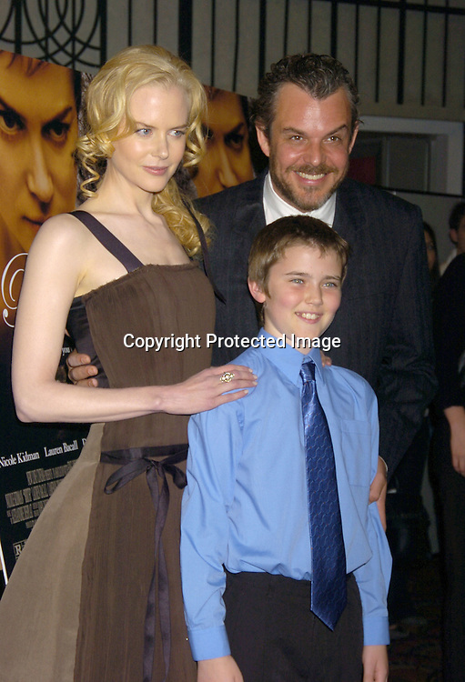"Nicole Kidman, Cameron Bright and Danny Huston ..at the New York Premier Screening of ""Birth"" starring ..Nicole Kidman, Lauren Bacall and Danny Huston and ..Cameron Bright on October 26, 2004 at the Loews LIncoln Square. ..Photo by Robin Platzer, Twin Images"